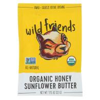 Wild Friends Organic Sunflower Butter - Honey - 1.15 oz - Case of 10