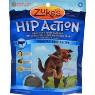 Zuke's Hip Action Dog Treats - Beef Formula - Case of 12 - 6 oz