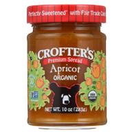 Crofters Fruit Spread - Organic - Premium - Apricot - 10 oz - case of 6