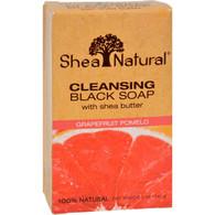 Shea Natural Black Soap - Shea Butter Cleansing Grapefruit Pomelo - 5 oz