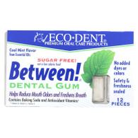 Eco-Dent Between Dental Gum - Mint - Case of 12 - 12 Pack