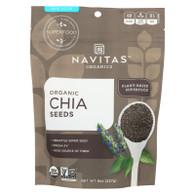 Navitas Naturals Chia Seeds - Organic - Raw - 8 oz - case of 12