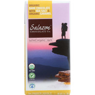 Salazon Chocolate Bar - Organic - 57 Percent Dark Chocolate - Sea Salt and Caramel - 2.75 oz - case of 12