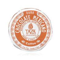 Taza Chocolate Organic Chocolate Mexicano Discs - 55 Percent Dark Chocolate - Coffee - 2.7 oz - Case of 12