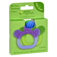 Green Sprouts Sili Paw Teether - 2 Pack Assorted