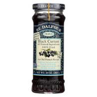 St Dalfour Fruit Spread - Deluxe - 100 Percent Fruit - Black Currant - 10 oz - Case of 6