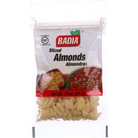 Badia Spices Almonds - Sliced - .75 oz - case of 12