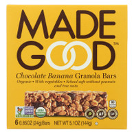 Made Good Granola Bar - Chocolate Banana - Case of 6 - 5 oz.