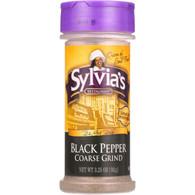 Sylvias Black Pepper - Coarse Ground - 3.25 oz - case of 6