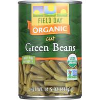 Field Day Beans - Organic - Green - Cut - 14.5 oz - case of 12