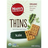 Marys Gone Crackers Crackers - Organic - Thins - Kale - 4.5 oz - case of 6