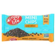Enjoy Life Baking Chocolate - Mini Chips - Semi-Sweet - Gluten Free - 10 oz - case of 12