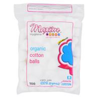 Maxim Hygiene Organic Cotton Balls - 100 Cotton Balls