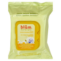 Blum Naturals Dry and Sensitive Skin Daily Cleansing Towelettes with Chamomile - 30 Towelettes - Case of 3
