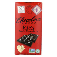 Chocolove Xoxox Premium Chocolate Bar - Dark Chocolate - Rich - 3.2 oz Bars - Case of 12