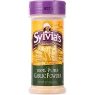 Sylvias Garlic Powder - 100 Percent Pure - 4.25 oz - case of 6