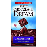 Dream Bar Chocolate Bars - 100 Percent Dairy Free - Sweet Chocolate - Creamy Sweet - 3 oz Bars - Case of 12