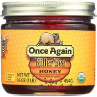 Once Again Honey - Organic - Killer Bee - 1 lb - case of 12