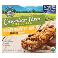 Cascadian Farm Granola Bar - Organic - Protein - Honey Roasted Nut - 8.85 oz - case of 12