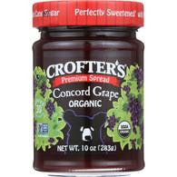 Crofters Fruit Spread - Organic - Premium - Concord Grape - 10 oz - case of 6