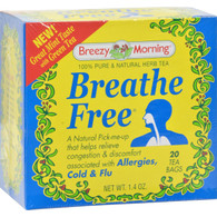 Breezy Morning Teas Breathe Free 100% Pure and Natural Herb Tea - 20 Bags
