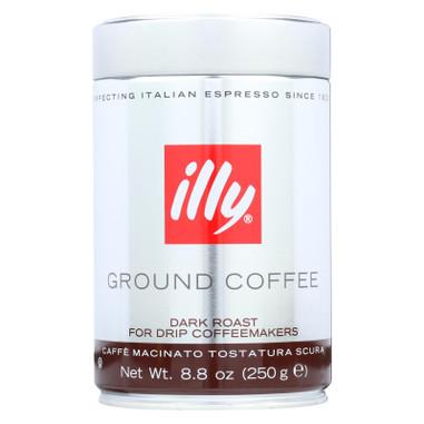 Illy Caffe Coffee Coffee - Drip - Ground - Dark Roast - 8.8 oz - case of 6