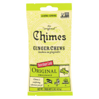 Chimes Ginger Chews - Original Refreshing Ginger - 1.5 oz - Case of 12