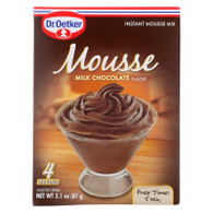 Dr. Oetker Organics Mousse Mix - Supreme - Instant - Milk Chocolate - 3.1 oz - case of 12