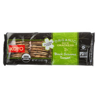Koyo Rice Crackers - Organic - Black Sesame Tamari - 3.5 oz - case of 12