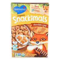 Barbara's Bakery Organic Snackimals Cereal - Chocolate Crisp - Case of 12 - 9 oz.