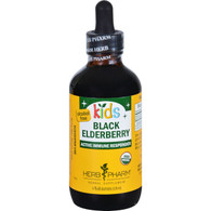 Herb Pharm Black Elderberry - Organic - Glycerite - Active Immune Responder - Kids - 4 oz