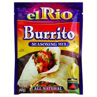 El Rio Seasoning Mix - Burrito - 1.5 oz - Case of 20
