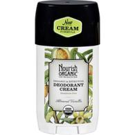 Nourish Organic Deodorant - Cream - Organic - Almond Vanilla - 2 oz