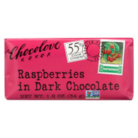 Chocolove Xoxox Premium Chocolate Bar - Dark Chocolate - Raspberries - Mini - 1.2 oz Bars - Case of 12