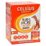 Celsius Calorie Burning Drink - Sparkling Cola - 4/12 oz