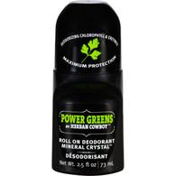 Herban Cowboy Deodorant - Roll On - Power Greens - 2.5 oz