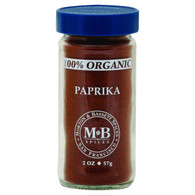 Morton and Bassett 100% Organic Seasoning - Paprika - 2 oz - Case of 3