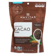 Navitas Naturals Cacao Nibs - Organic - Raw - 16 oz - case of 6