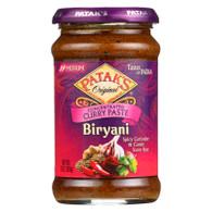 Pataks Curry Paste - Concentrated - Biryani - Medium - 10 oz - case of 6