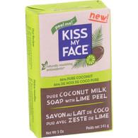 Kiss My Face Bar Soap - Coconut Milk - Lime Peel - 5 oz