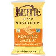 Kettle Brand Potato Chips - Roasted Garlic - 5 oz - case of 15