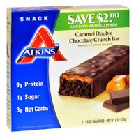 Atkins Advantage Bar Caramel Double Chocolate Crunch - 5 Bars
