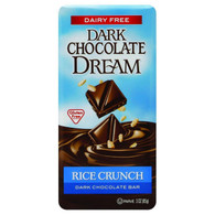 Dream Bar Chocolate Bars - 100 Percent Dairy Free - Dark Chocolate - Rice Crunch - 3 oz Bars - Case of 12