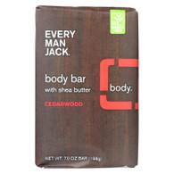 Every Man Jack Bar Soap - Body Bar - Cedarwood - 7 oz - 1 each