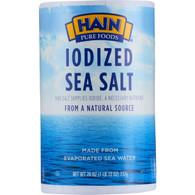 Hain Sea Salt - Iodized - 26 oz - case of 24