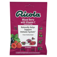 Ricola Cough Drops with Vitamin C - Mixed Berry - Case of 12 - 19 Pack