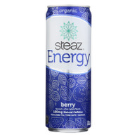 Steaz Energy Drink - Berry - Case of 12 - 12 Fl oz.
