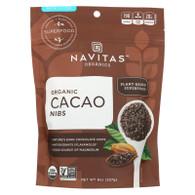 Navitas Naturals Cacao Nibs - Organic - Raw - 8 oz - case of 12