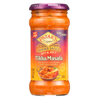 Pataks Simmer Sauce - Hot and Spicy - Tikka Masala - Hot - 12.3 oz - case of 6