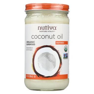 Nutiva Organic Coconut Oil - Refined - Case of 6 - 23 Fl oz.
